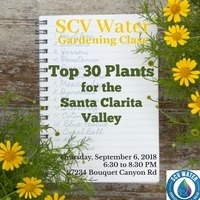 Top 30 Plants for the SCV