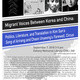 """Migrant Voices Between Korea and China: Politis, Literature, and Translation in Kim San's """"Song of Arirang"""" and Cheon Unyeong's """"Farewell, Circus"""""""