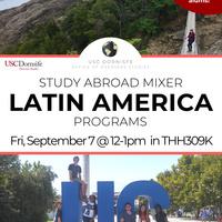 Study Abroad - Latin America Programs Mixer