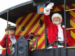 Santa Arrives on the Train