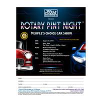 ROTARY PINT NIGHT & CAR SHOW