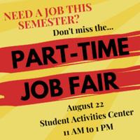 Part-Time Job Fair Fall 2018