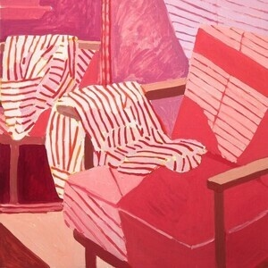 "Sophie Treppendahl, ""Skinnydip Daydreams And A Striped Shirt"""