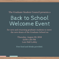 Welcome Event for Graduate Students
