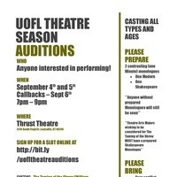Theatre Arts 2018-2019 Season Auditions