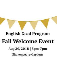 English Grad Program  Fall Welcome Event