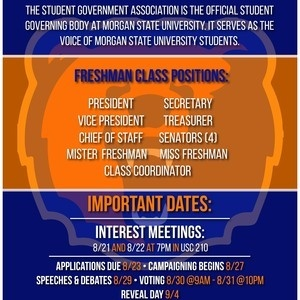 SGA Freshman Class Elections!