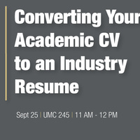 Converting Your Academic CV to an Industry Resume