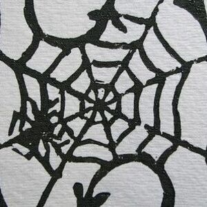 Spooky Print Relief Cards