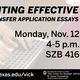 Effective Internal Transfer Application Essay Workshop