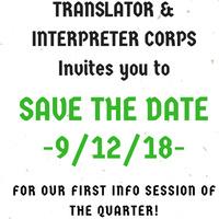 Translator & Interpreter Cops' Information Session