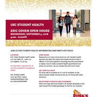 Eric Cohen Open House - USC Student Health
