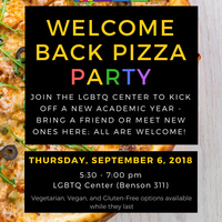 LGBTQ Center Welcome Back Pizza Party