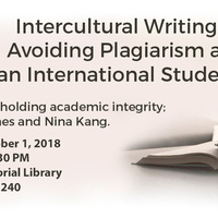 Intercultural Writing: Avoiding Plagiarism as an International Student