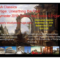 Information Session: UGA Franklin Europe Unearthing the Past
