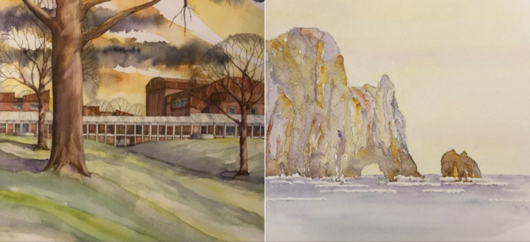 Near and Far: Recent Watercolors by James Barker, FAIA