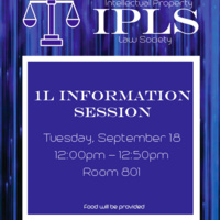 Intellectual Property Law Society 1L Informational Session