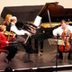Daniel Schene, piano, Wanda Becker, violin, and Andrew Ruben, cello