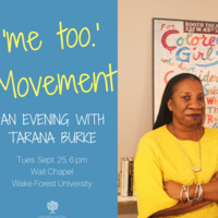 'me too.' Movement: An Evening with Tarana Burke
