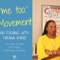 'me too.' Movement: An Evening with Tarana Burke