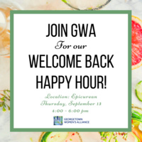 Georgetown Women's Alliance for our Welcome Back Happy Hour