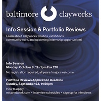 Baltimore Clayworks Info Session + Portfolio Reviews