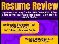 Resume Review - STEM Career Fair Countdown