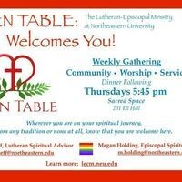 OPEN TABLE: Weekly Gathering
