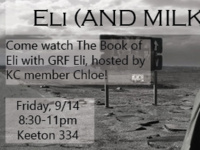 The Book of Eli with GRF Eli (AND MILKSHAKES)