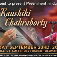 ICMCA presents Internationally Acclaimed Vocalist Kaushiki Chakraborty