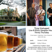 RSOL Designer House Thirsty Thursdays featuring Three Unplugged