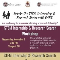 Inside the STEM Industry - Research Internships