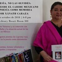 Poesía, no las olvides: voces desde el Caribe mexicano: Xánath Caraza