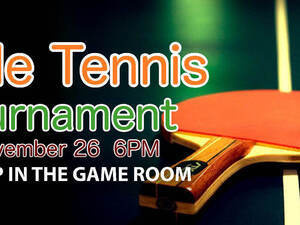 Table Tennis Gameroom Tournament