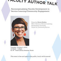 Faculty Author Talk: Reconceptualizing Faculty Development in Service-Learning/Community Engagement