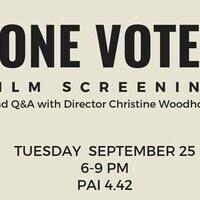 One Vote Screening & Meet Director Christine Woodhouse