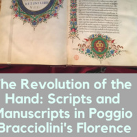 "Guess Lecture by Dr. Roberta Ricci: ""The Revolution of the Hand: Scripts and Manuscripts in Poggio Bracciolini's Florence""."