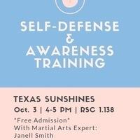 Texas Sunshines Presents: Self Defense and Awareness Training