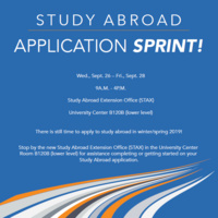 Study Abroad Application Sprint