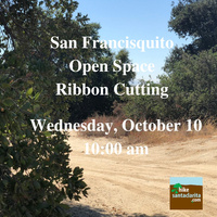 RIBBON CUTTING FOR NEW SAN FRANCISQUITO OPEN SPACE