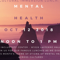 Cultural Immersion Lunch: Mental Health