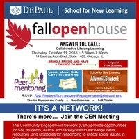 SNL FALL OPEN HOUSE  Answer the Call: Collaborative Lifelong Learning