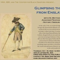 Glimpsing the Flight from Enslavement, a lecture by Dr. Matthew Rarey, Assistant Professor of Art History, Oberlin College