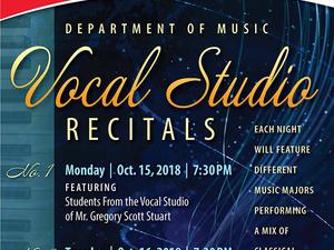 Vocal Studio Recital No. 1 & No. 2