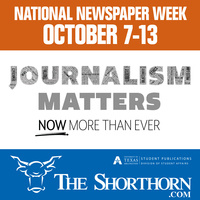 The Shorthorn's National Newspaper Week handouts