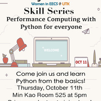 Systers Skills Series: Performance Computing with Python for Everyone