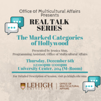 Real Talk Series: The Marked Categories of Hollywood   Multicultural Affairs