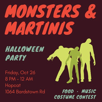 "Grad Student ""Monsters & Martinis"""
