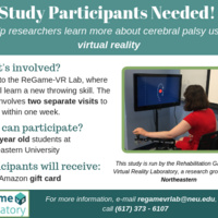 Video gaming research study in the ReGame-VR lab!