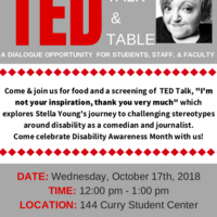 TED TALK & TABLE